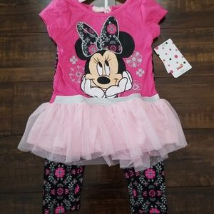 Disney Minnie Mouse Top and pants Outfit NEW